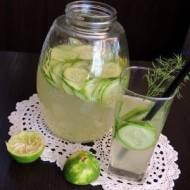 Lemoniada ogórkowa z limonką