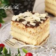 Sernik gotowany z czekoladowym kajmakiem (na herbatnikach)