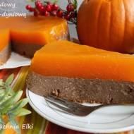 Sernik czekoladowy z pomarańczowo-dyniową galaretką