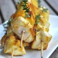 Cytrynowe szaszłyki z kurczaka z szafranem i tymiankiem