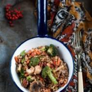 Gryczotto z warzywami i kurczakiem