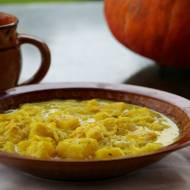 Zupa curry z krewetkami i dynią