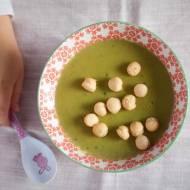 Zupa groszkowa, aktualnie ulubiona zupa Emilki