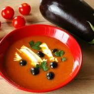 Marokańska zupa z bakłażana i pomidorów.