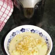 smaczna zupa kalafiorowa z ryżem i z resztek  wyciśniętego soku-testowanie Avance Collection Wyciskarka do soku HR1896/70