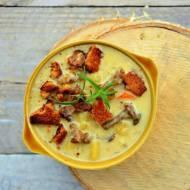 Jesienna zupa z kurkami i warzywami