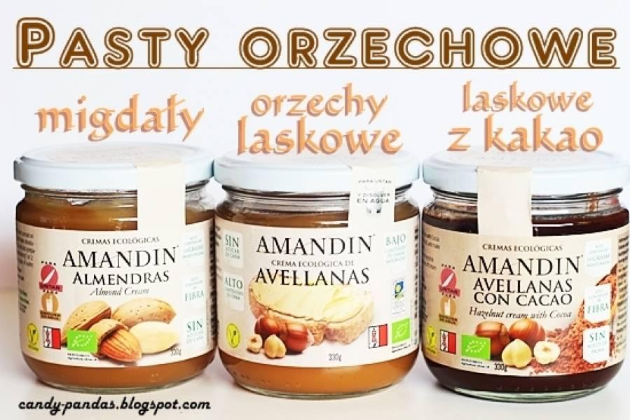 Pasta z orzechów laskowych/ laskowych z kakao/ z migdałów - Amandin (Vegamarket)