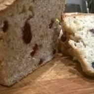Szybki i prosty chleb z żurawiną
