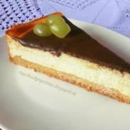 Sernik (z wiaderka) na kruchym spodzie z polewą czekoladową