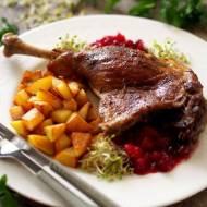 Uda gęsie wolno pieczone z rozmarynem, czosnkiem i wędzoną papryką
