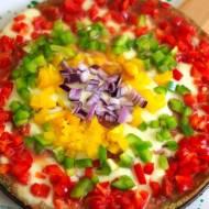 Kolorowa pizza z komosy ryżowej