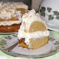 pyszne ciasto z resztek po soku z kremem mascarpone...