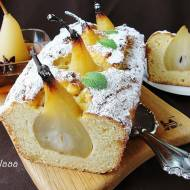 Ciasto marcepanowo kokosowe z gruszkami