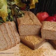 Chleb złocisty bezglutenowy na zakwasie z tartym jabłkiem