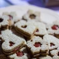 Orkiszowo - migdałowe ciasteczka z domową konfiturą (bez cukru)