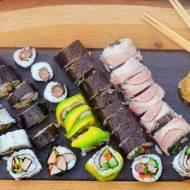 Pyszne sushi i z wieprzowiną