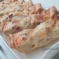 Tarta gruszkowa z gorgonzolą i kurczakiem