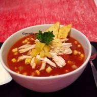 Zupa aztecka z kurczakiem