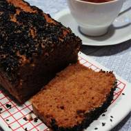 czarne ciasto marchewkowe bez jajek