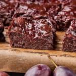 Brownie z powidłami (bez mąki)