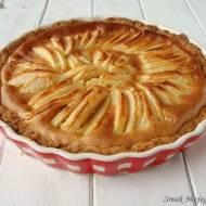 Cytrynowa tarta z jabłkami i śmietankowo - waniliowym sosem budyniowym