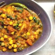 Curry ziemniaczane z ciecierzycą