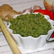 Pasta curry zielone