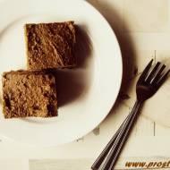 Ciasto kakaowo-kawowe z  masłem orzechowym ( bez glutenu )