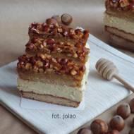 Ciasto miodowe z orzechami i kremem budyniowo-orzechowym