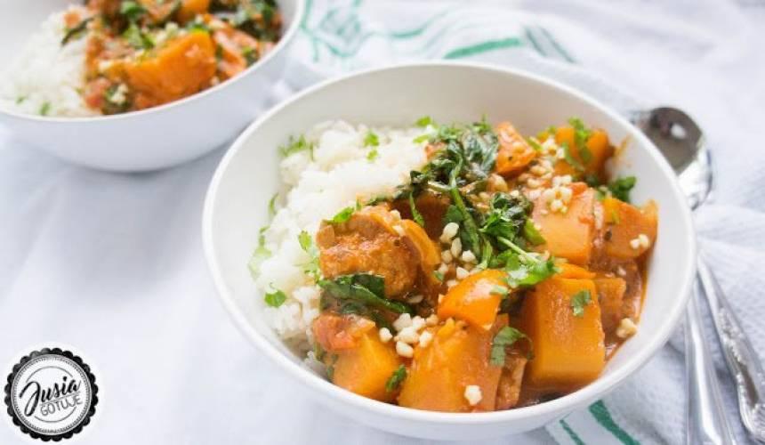 Tajskie curry z kurczakiem i dynią.