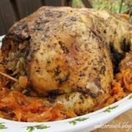 Kurczak nadziewany kiszoną kapustą