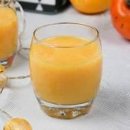 Koktajl z kaki i świeżo wyciśniętych pomarańczy