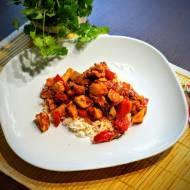 Kurczak w sosie paprykowo-pomidorowym