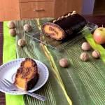 Jesienna rolada orzechowa z marchewką i jabłkiem