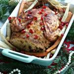 Kurczak faszerowany kuskusem, śliwakmi i rodzynkmi