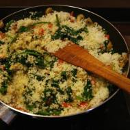 Kuskus i szpinak / Couscous and spinach