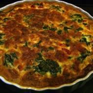 Quiche z szpinakiem i mozzarellą / Spinach and mozzarella quiche