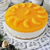 Sernik na zimno z mandarynkami