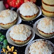 Muffinki rafaello z ciecierzycy (bez jajek, bez mleka, bez białej mąki i białego cukru)