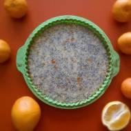 Tarta z białą czekoladą, makiem i pomarańczami na mikołajkowe przebudzenie*