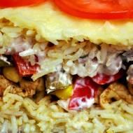 Szybka zapiekanka ryżowa gyros