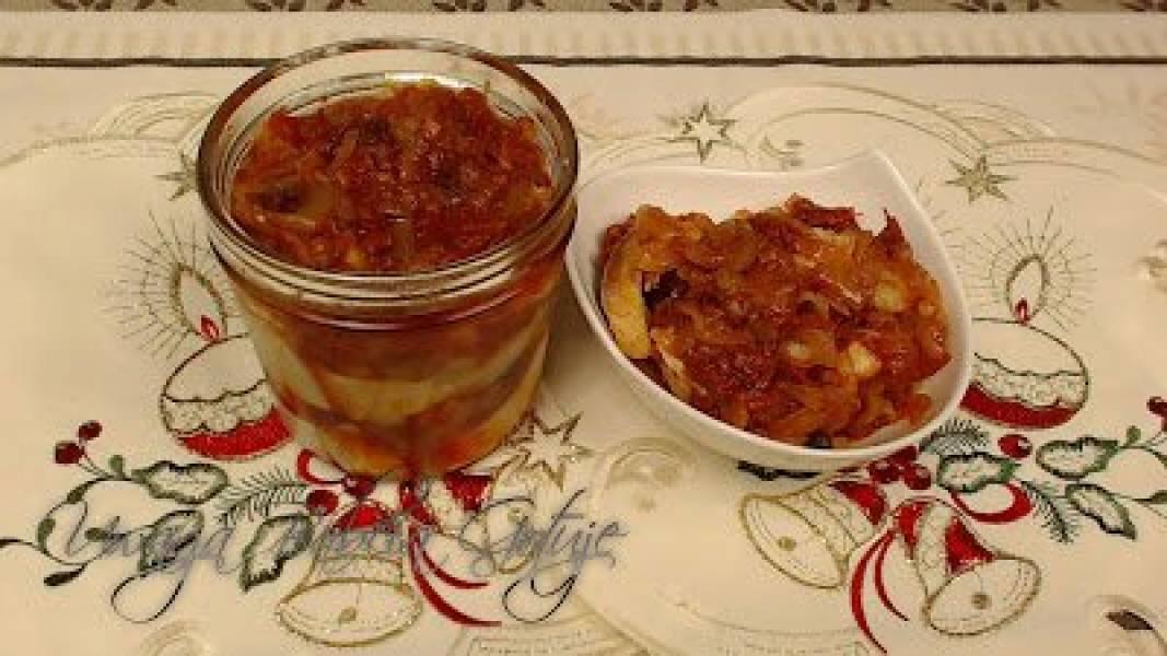 Śledzie z Suszonymi Pomidorami