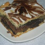 Ciasto makowo-orzechowe