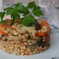 Pęczotto z warzywami
