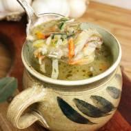 Zupa warzywna z boczniakami
