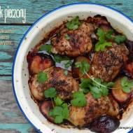 Kurczak pieczony ze śliwkami i sosem sojowym