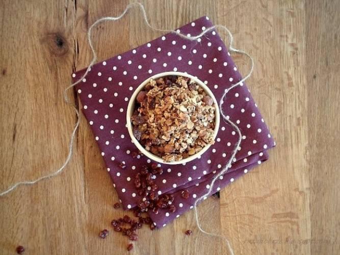 Cynamonowa granola z jarzębiną
