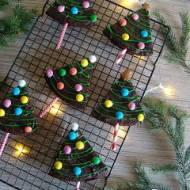 Piernikowe brownie – choinki
