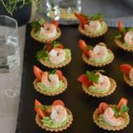 Tartaletki z krewetkami i pastą z awokado