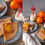 Naleśniki z serem i pomarańczami